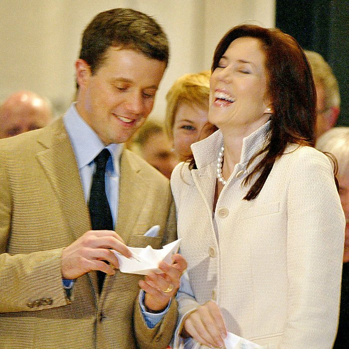 Prince Frederik knows how to make his wife laugh. The Danish royal amused his wife making a paper ship while visiting the Nordic pavilion at the 2005 World Exposition.