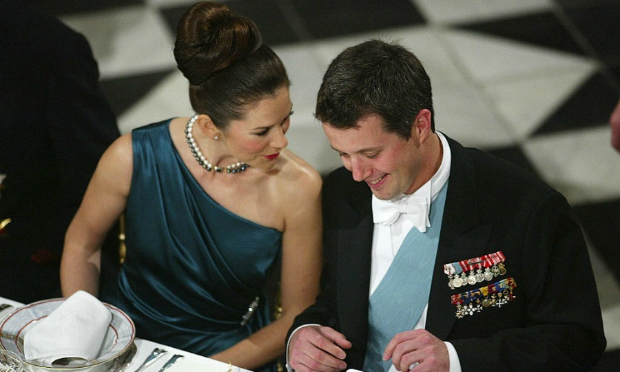 Date night at the palace. In 2003, Mary accompanied her then-fiancé to the State Council gala dinner.