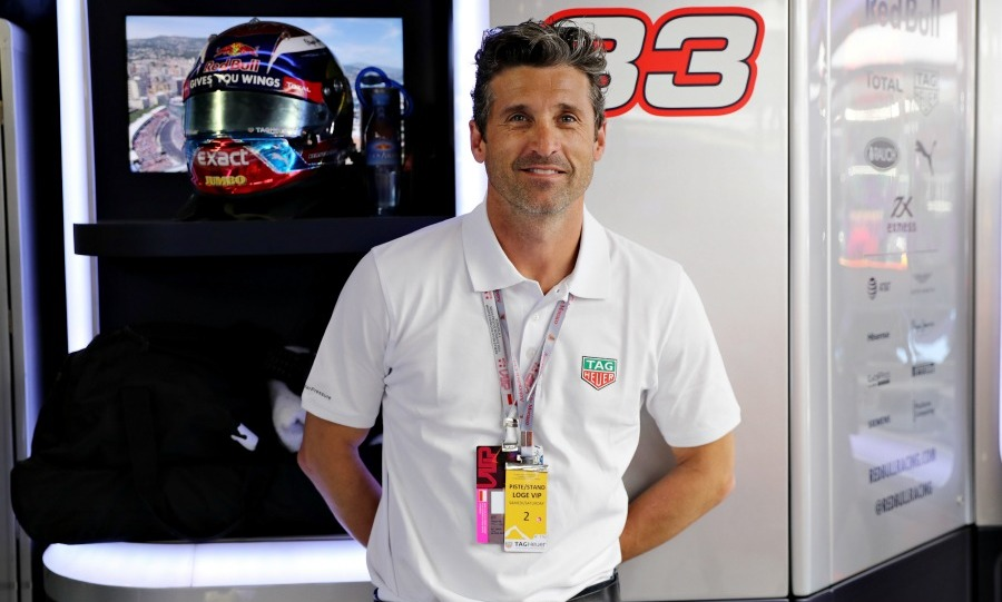 May 28: Start your engines! Patrick Dempsey hung out in the Red Bull racing garage during the Monaco Formula One Grand Prix.
