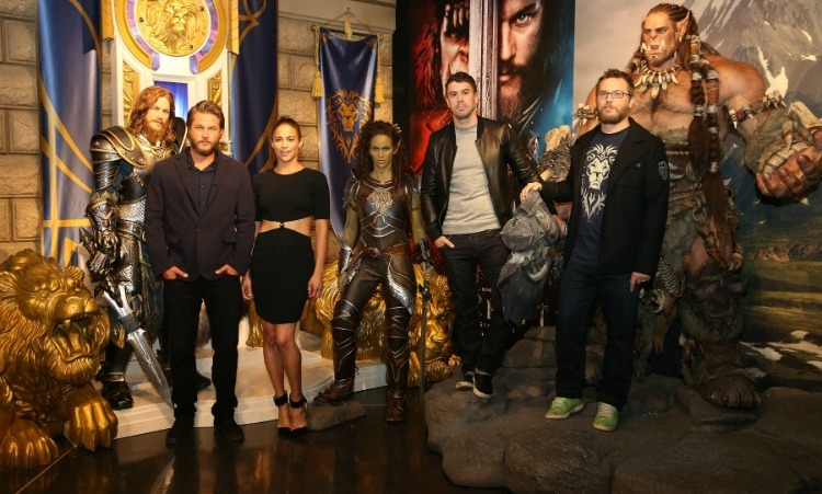 May 27: Unbelievably real! Travis Fimmel, Paula Patton, Toby Kebbell and Duncan Jones attended the launch of the <i>Warcraft</i> experience at Madame Tussauds in London. 