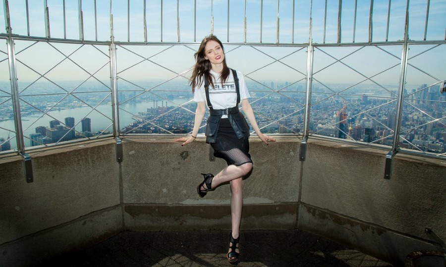 May 26: On top of the world! Coco Rocha lit up the Empire State Building in honor of World Blood Day.