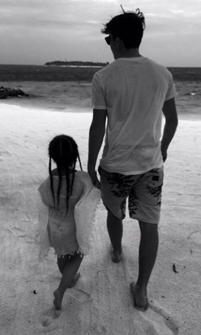<b>He looks out for his little sis</b>