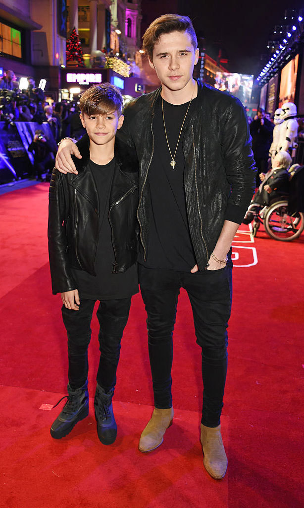 <b>He hits the town with his brother</b>