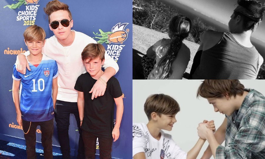 Brooklyn Beckham is one of the coolest teens on the scene these days, and while Victoria and David Beckham's oldest child is a budding photographer and teen heartthrob, he's a brother first and foremost at home.