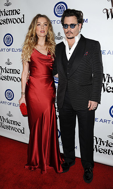 <b>Johnny Depp and Amber Heard</b>