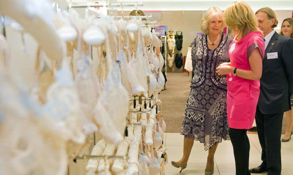 The Duchess of Cornwall paid a visit to the lingerie department of Marks and Spencer in 2009 to celebrate the 125th anniversary of the first store opening in the global chain. 