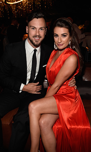 <b>Lea Michele and Matthew Paetz</b>