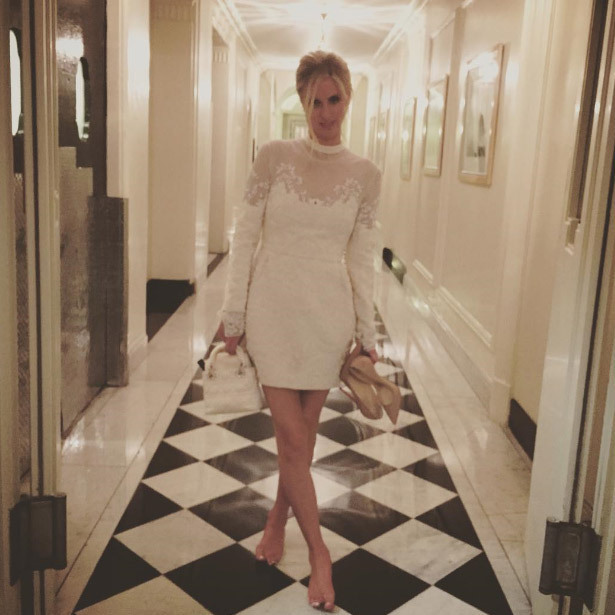"The evening before she was set to say ""I do"", Nicky and her husband-to-be threw a sophisticated drinks party for their wedding guests in London.