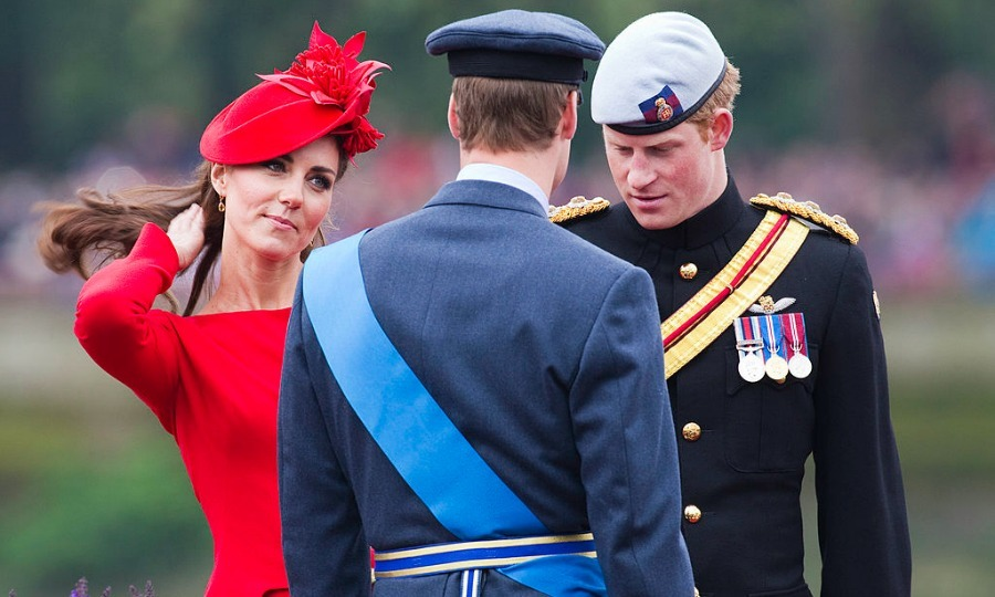 Kate, Harry and Will came together on board the 'Spirit of Chartwell for the Thames Diamond Jubilee Pageant in 2012 — looking as regal as ever.