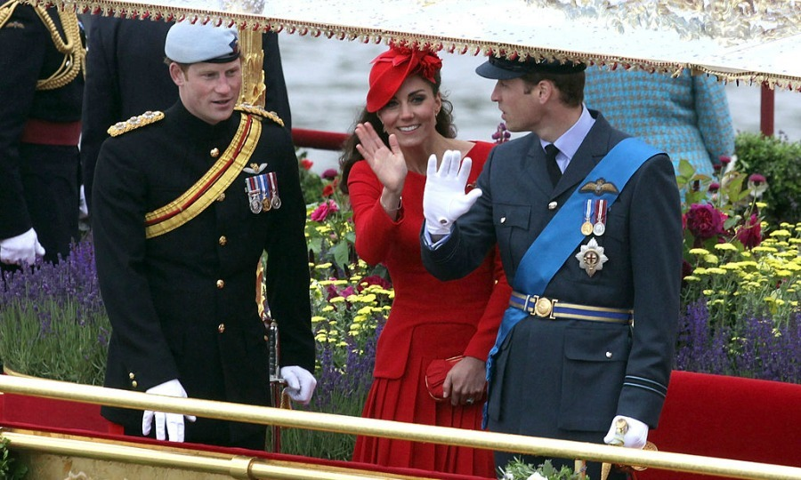 The royals waved to well-wishers from the Spirit of Chartwell during the 2012 Diamond Jubilee Thames River Pageant.