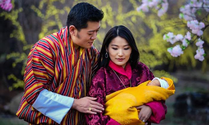 The newborn Prince slept his way through his first official photocall.