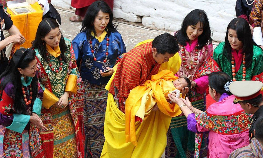 "In April, the Prince was given his official name, Jigme Namgyel Wangchuck, during a spectacular official naming ceremony. Speaking to the people of Bhutan, his father said: ""Jigme means fearless. It symbolizes great courage to overcome any challenge that he may confront in the future as he serves our country.""