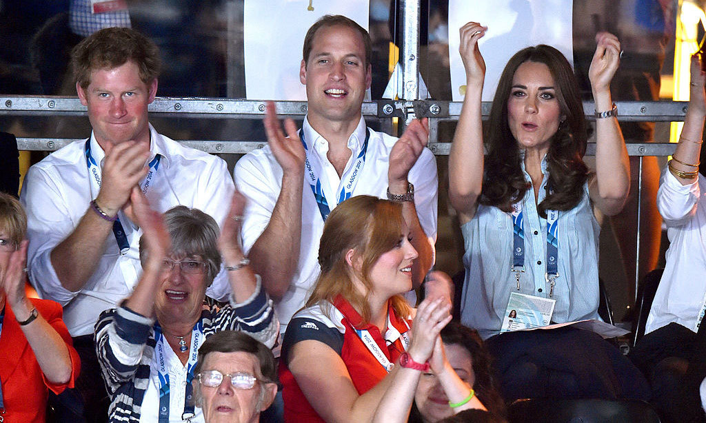 They've got spirit, yes they do! The royals cheered together at a boxing match during the Commonwealth Games held in Glasgow, Scotland in 2014. 