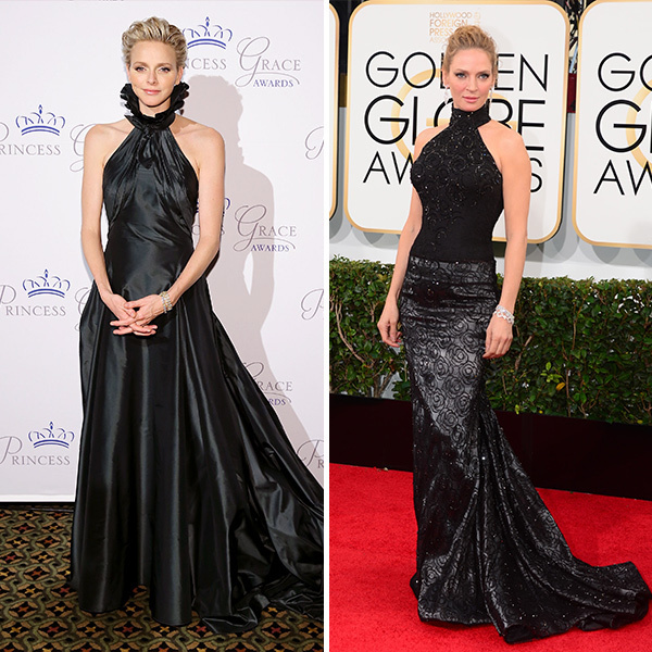 <b>Princess Charlene of Monaco and Uma Thurman</B>