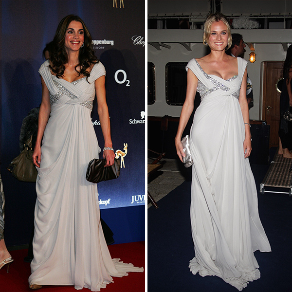 <b>Queen Rania of Jordan and Diane Kruger</B>