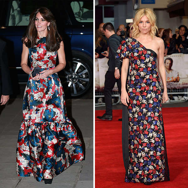 <b>The Duchess of Cambridge and Sienna Miller</B>