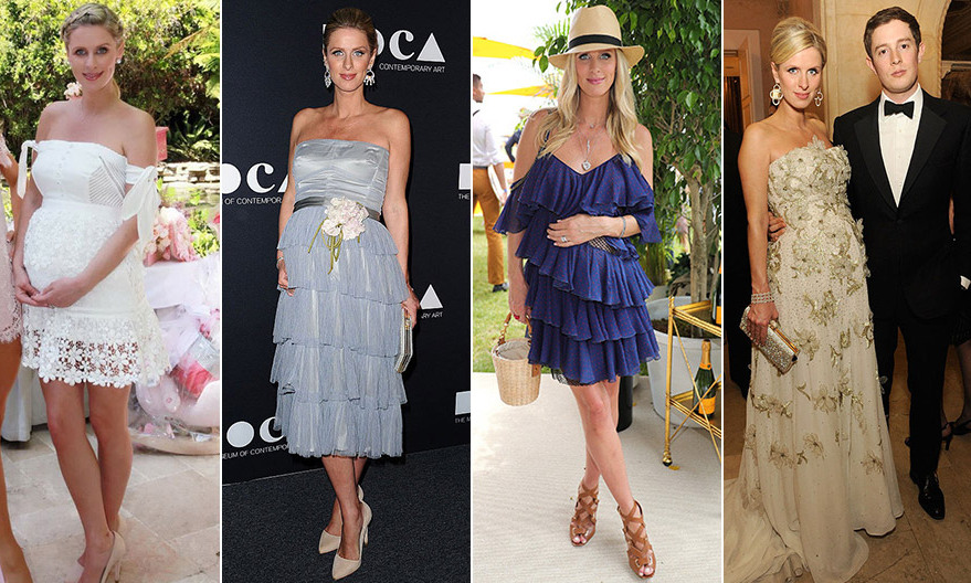 We loved her princess-like wedding gown by Valentino, and since she announced her pregnancy, now we're watching Nicky Hilton's style as she dresses her growing baby bump. Here's our look at what (and who) the ever-chic Mrs Rothschild is wearing.