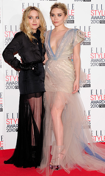 Showing off two sheer and leggy looks during the 2010 Elle Awards in London. 