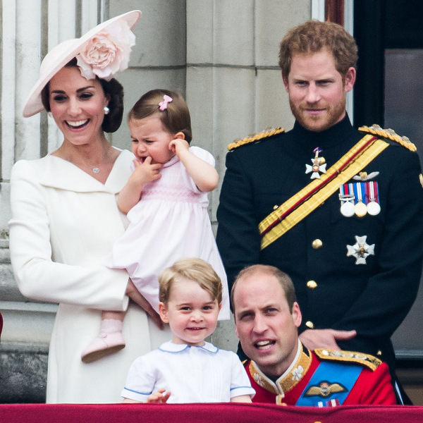 It was a royal family outing! The Cambridges — Kate Middleton, Princess Charlotte, Prince George and Prince William —were joined by uncle Prince Harry on the balcony of Buckingham Palace during the 2016 Trooping the Colour.