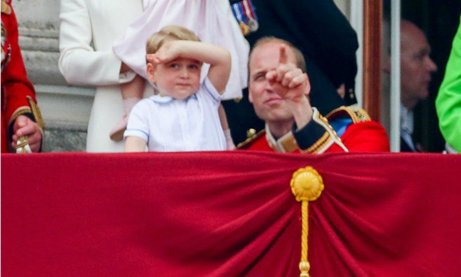 From one future king to another! Prince William chatted with George, pointing his son's attention in one particular direction.