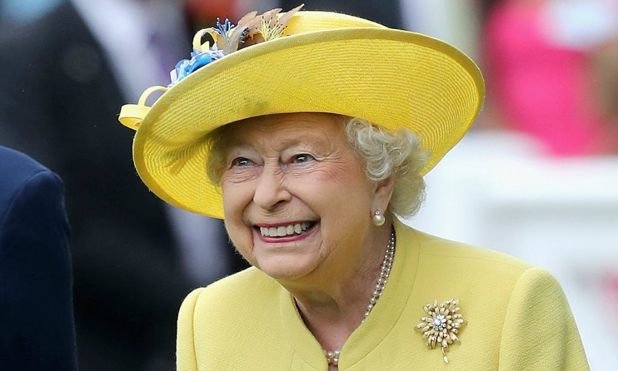 Queen Elizabeth was super cheery in yellow to start the fun.