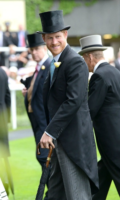 Prince Harry wore his Sunday best on a Tuesday.