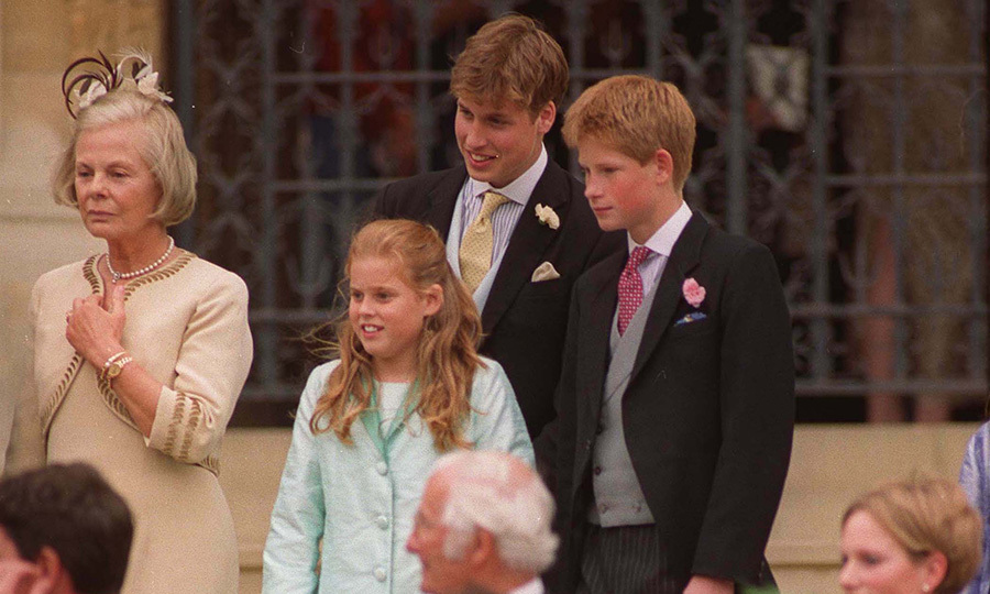 17-year-old Prince William attended the nuptials alongside his younger brother Prince Harry, 15, and his cousin Princess Beatrice, 11. 