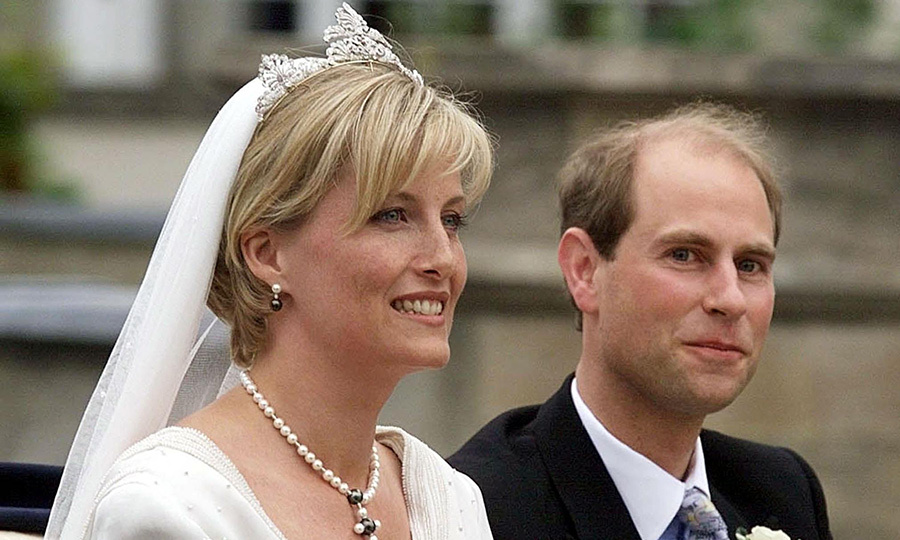 Prince Edward, 35, who was bestowed with the title of Earl of Wessex on his wedding day, declined photographers' requests to kiss Sophie, 34, as they left the chapel. Instead, the newlyweds happily waved to well-wishers.