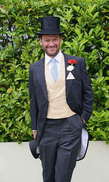 <i>The Affair</i> actor Dominic West looked smart in a suit and top hat for the fourth day of races at the Ascot Racecourse.