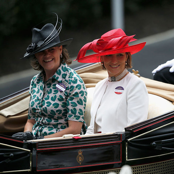 The Countess of Hopetoun and Lady Carolyn Warren were dressed in their racetrack best as they arrived in the Royal Procession.