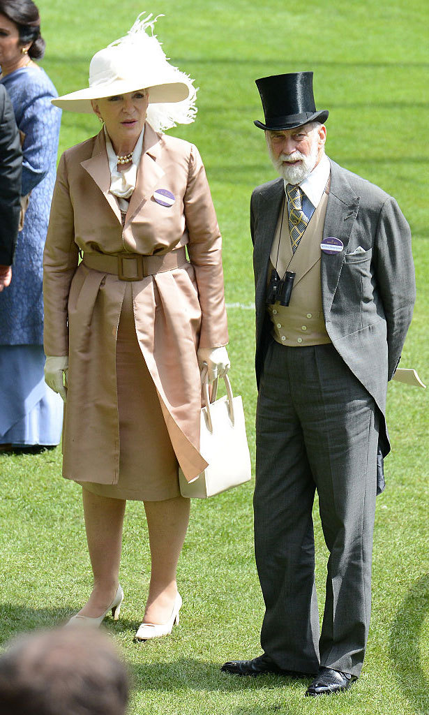 Princess Michael of Kent and Prince Michael of Kent mingled on the field at the Ascot Racecourse.