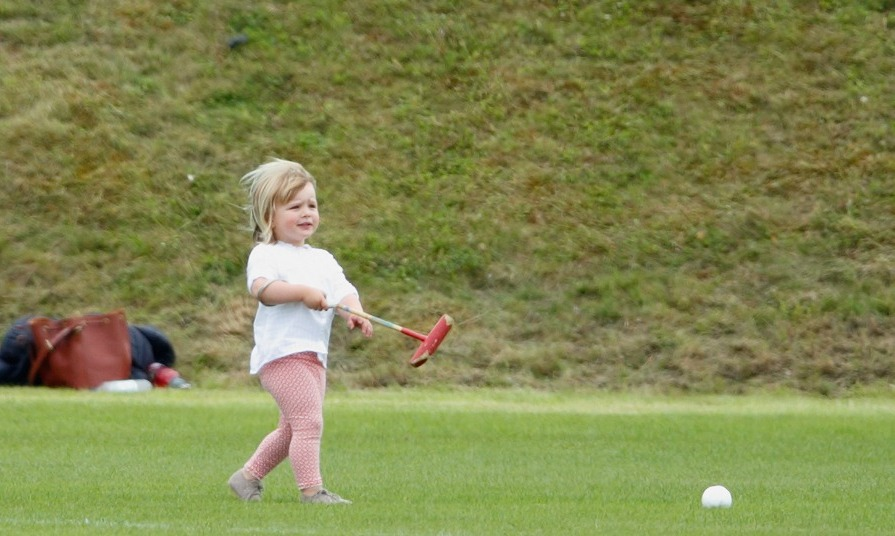 The young royal worked on her polo skills during the Maserati Royal Charity Polo Trophy Match.