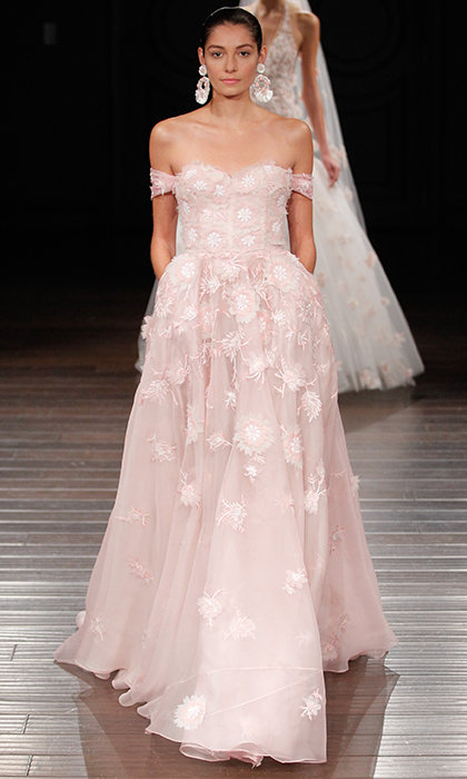 Wedding dresses 2017: Pastel and colored bridal gowns ...
