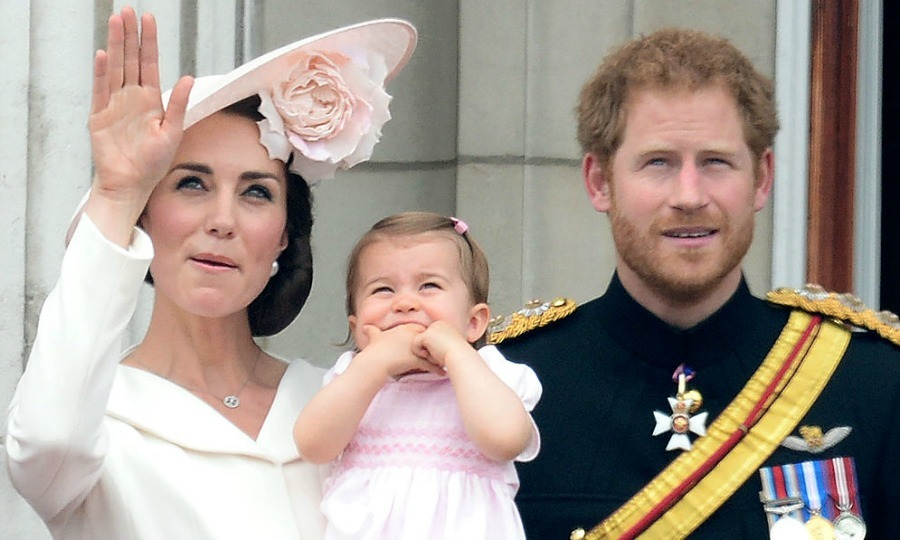 June 2016: Princess Charlotte snacked on her hands during the 2016 Trooping the Colour alongside her mom Kate Middleton and Uncle Prince Harry.