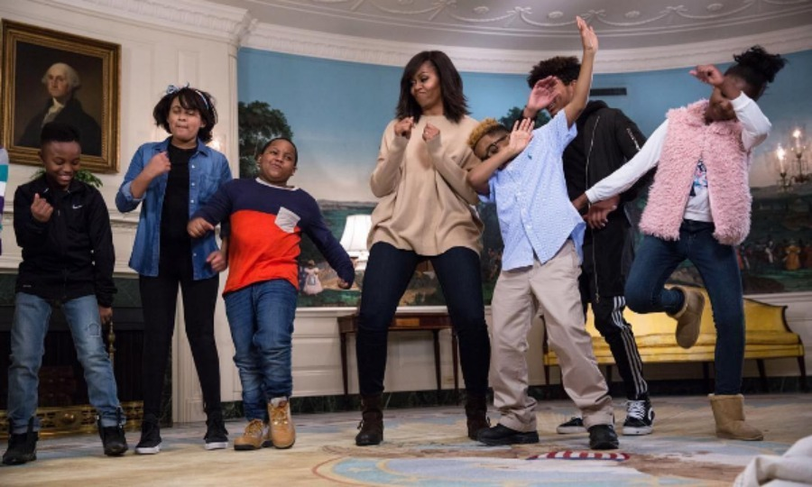 <b>She is up to date with all the latest dance moves</b>