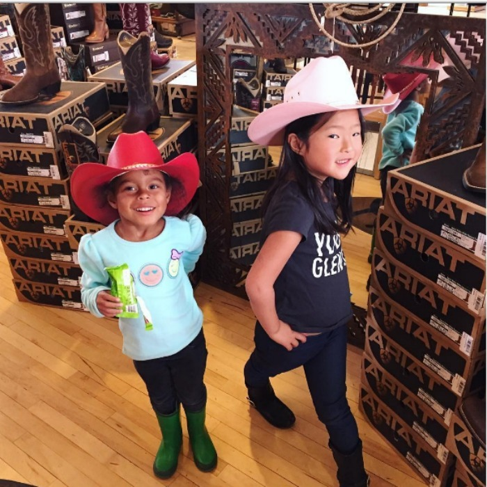 Adalaide and Naleigh showed off their cowgirl style before heading off on <i>The Driver</i> tour with their daddy Josh and uncle Charles. 