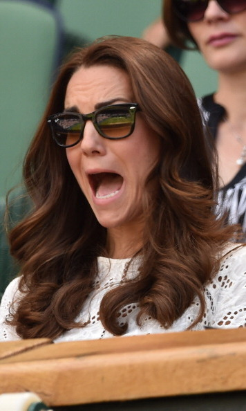 The Duchess of Cambridge really got into the action as she watched Andy Murray compete that year. The royal kept her eyes on the match from behind these classic tortoise Ray Ban Wayfarer sunglasses.