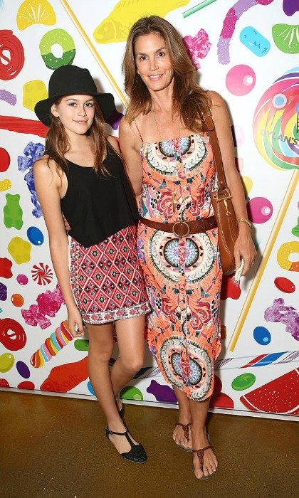 The mother-daughter pair made a colorful splash in paisley prints and flats at Dylan's Candy Bar Candy Girl Collection L.A. launch in 2014.