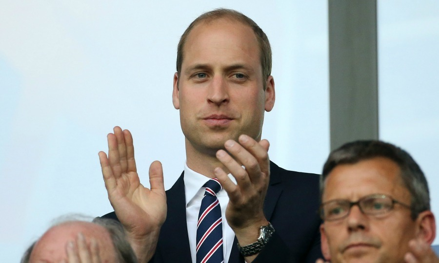 "The day before his birthday, <a href=""http://us.hellomagazine.com/tags/1/prince-william/""><strong>Prince William</strong></a> rooted for his home team during the UEFA EURO 2016 group B match between Slovakia and England. 