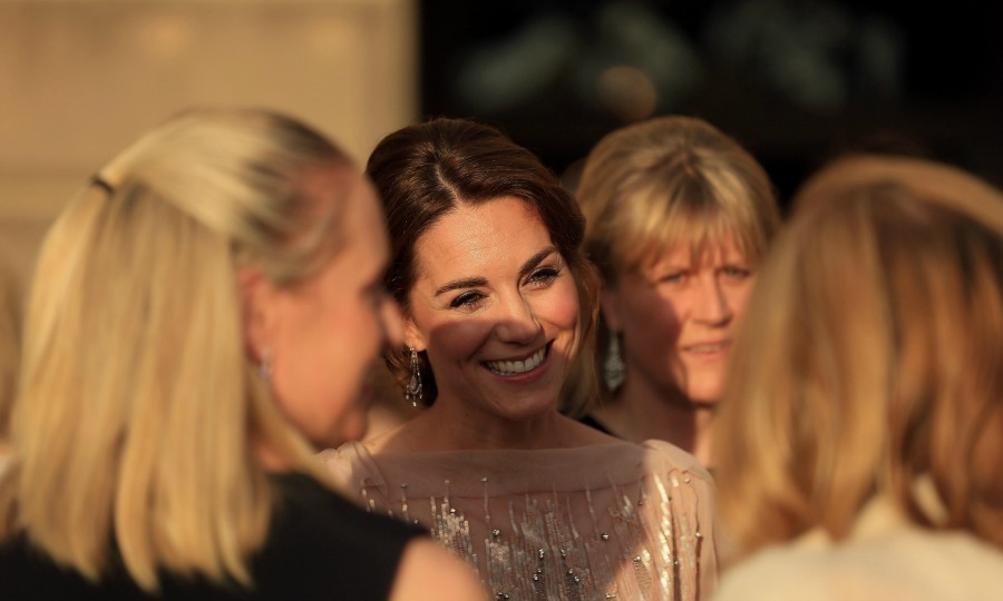 "<a href=""http://us.hellomagazine.com/tags/1/kate-middleton/""><strong>Kate Middleton</strong></a> chatted with guests during the gala to benefit the East Anglia's Children's Hospices at Houghton Hall. During the event, the Duke joked that the Duchess' culinary skills are the reason he is so skinny. 