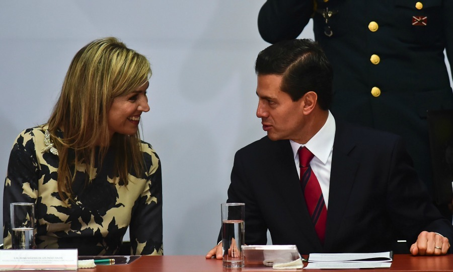 "<a href=""http://us.hellomagazine.com/tags/1/queen-maxima/""><strong>Queen Maxima</strong></a> of the Netherlands spoke with Mexican President Enrique Pena Nieto during the II Forum of Financial Inclusion in Mexico City.