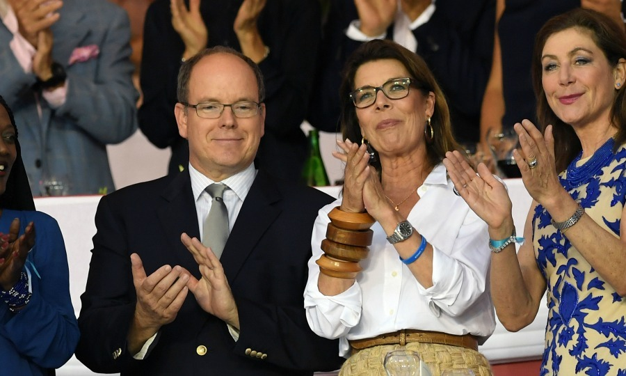 "<a href=""http://us.hellomagazine.com/tags/1/prince-albert/""><strong>Prince Albert</strong></a> and Princess Caroline cheered as they attended the Longines  Champions tour of Monaco. 
