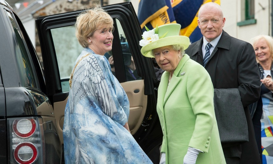"During her trip to Northern Ireland with <a href=""http://us.hellomagazine.com/tags/1/prince-philip/""><strong>Prince Philip</strong></a>, Queen Elizabeth attended the unveiling of the Robert Quigg VC memorial in Bushmills Village.