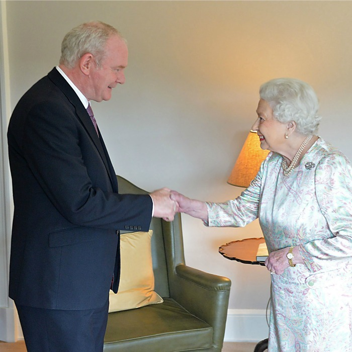 "<a href=""http://us.hellomagazine.com/tags/1/queen-elizabeth/""><strong>Queen Elizabeth</strong></a> was full of jokes during her meeting with Northern Ireland Deputy First Minister Martin McGuinnes. Her Majesty joked that she is ""still alive,"" when asked how she was doing. 