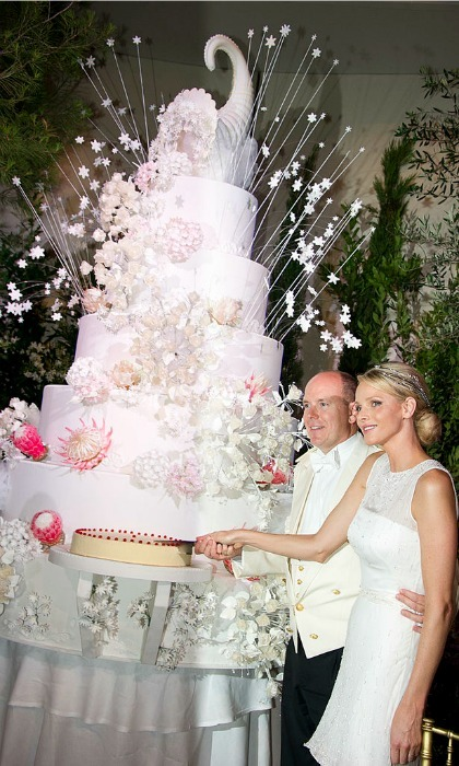Let them eat cake! The royals celebrated with a towering 