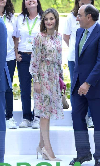 Queen Letizia championed affordable style in a $50 Zara dress.