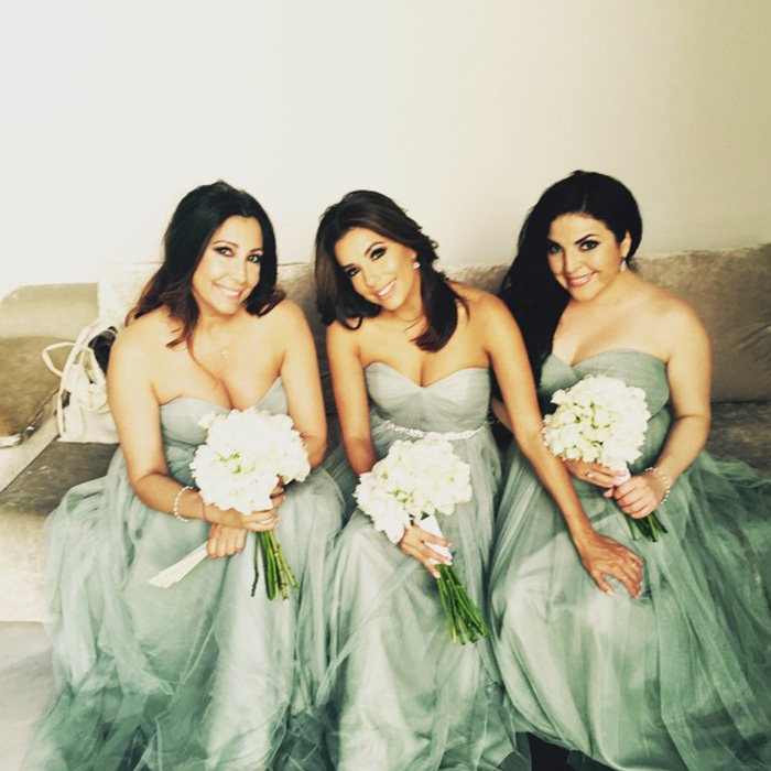 "Almost a year before wearing a Victoria Beckham designed number for her own wedding, <a href=""http://us.hellomagazine.com/tags/1/eva-longoria"" target=""_blank"" style=""font-weight: bold;"">Eva Longoria</a> was a vision wearing a strapless seafoam green bridesmaid dress at her friend Alina Peralta's nuptials in Spain.