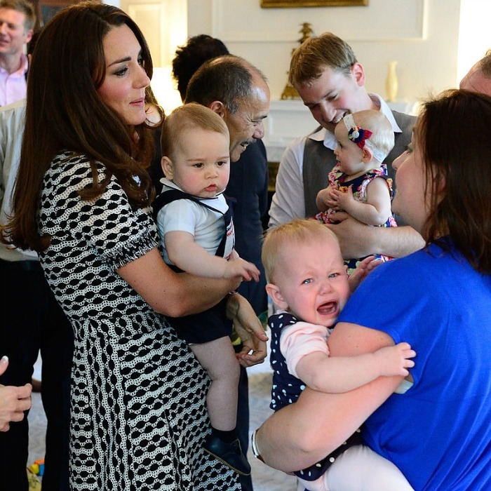 "Meeting a future King can be scary! Safe to say <a href=""http://us.hellomagazine.com/tags/1/prince-george/""><strong>Prince George</strong></a> made a lasting first impression on a fellow baby during his royal tour of Australia. 