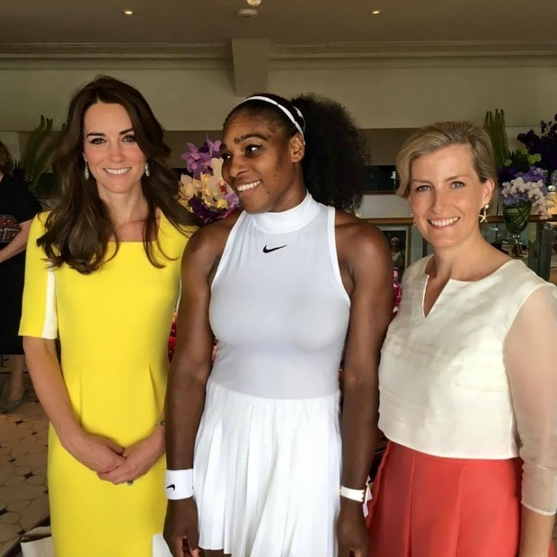 "The queen of the courts, <a href=""http://us.hellomagazine.com/tags/1/serena-williams/""><strong>Serena Williams</strong></a>, met actual royalty at Wimbledon 2016, where she snagged a photo between <a href=""http://us.hellomagazine.com/tags/1/kate-middleton/""><strong>Kate Middleton</strong></a> and <a href=""http://us.hellomagazine.com/tags/1/Sophie-Wessex/""><strong>Sophie Wessex</strong></a>. Discussing the royals after her match, the tennis champion said, ""It was really nice to meet with them (the Duchess and Countess). I actually didn't know they were both here. It was really cool, we just had a chat about the matches. I was surprised - it was a good thing that I did not see that they were there, maybe I would have gotten a little nervous. But yeah, it was really cool.""
