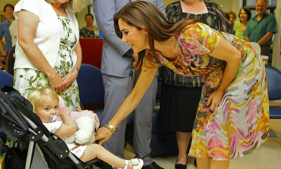 "This little girl was much more interested in her stuffed animal than befriending Denmark's <a href=""http://us.hellomagazine.com/tags/1/crown-princess-mary/""><strong>Crown Princess Mary</strong></a> at the Westmead Hospital Cancer Care Center in Sydney.